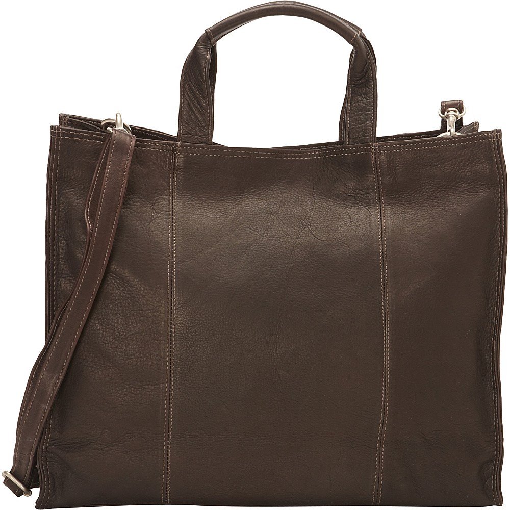 Piel Carry-All Tote Chocolate - Piel Leather Handbags - Handbags, Leather Handbags