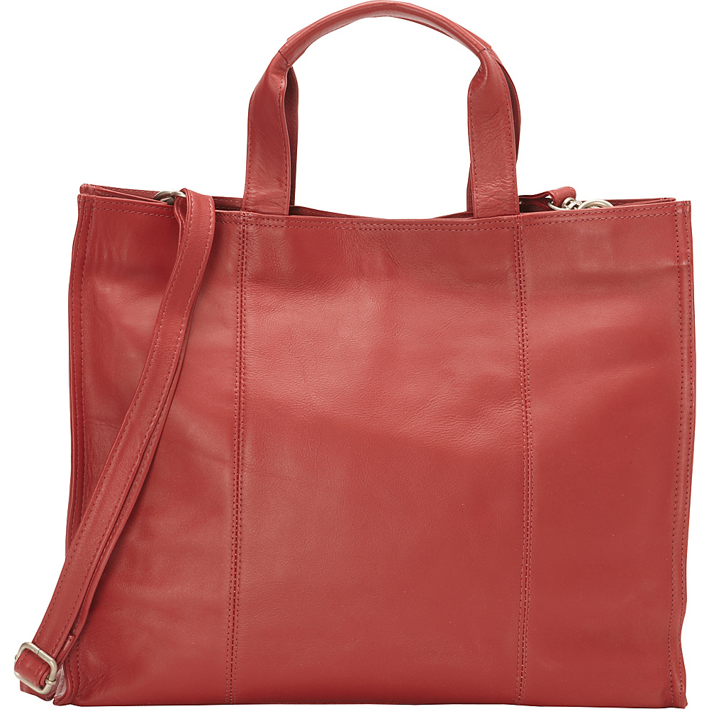 Piel Carry-All Tote Red - Piel Leather Handbags
