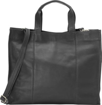 Piel Carry-All Tote Black - Piel Leather Handbags