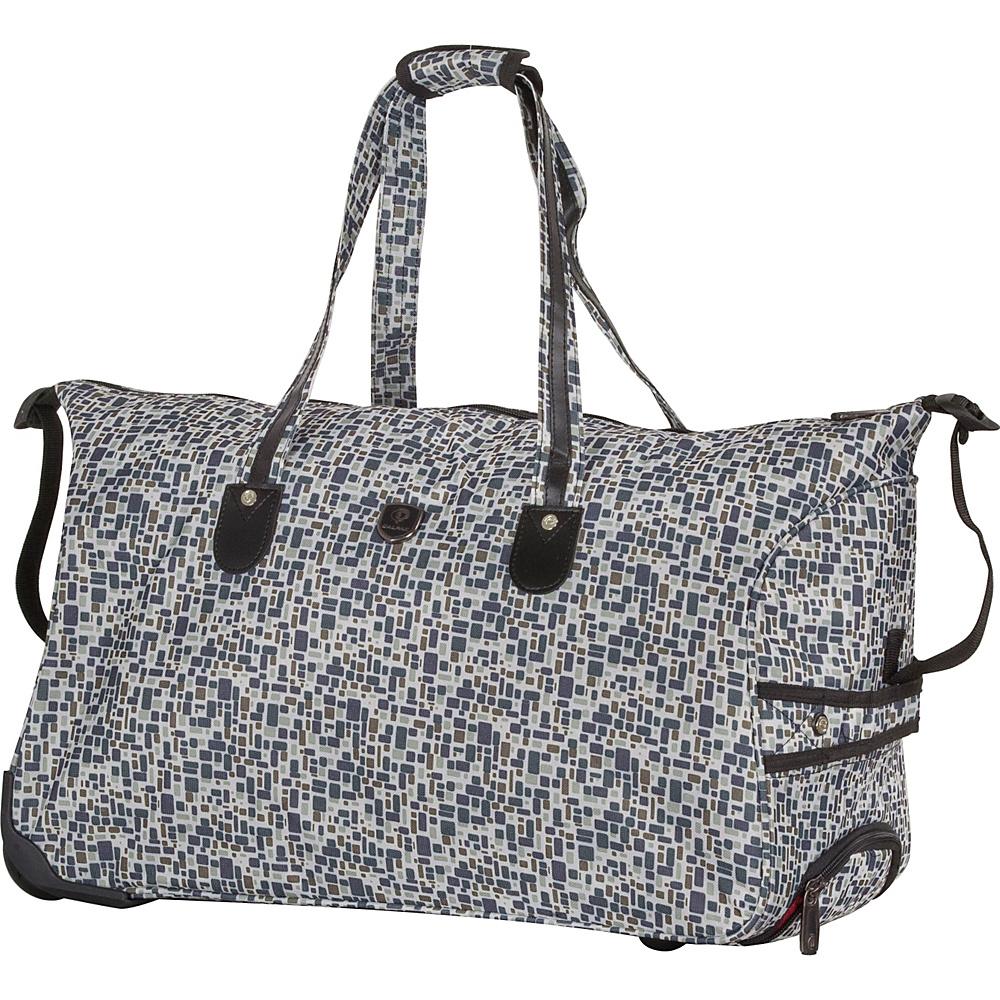 CalPak Madison Duffel Bag Black Squares - CalPak All Purpose Duffels