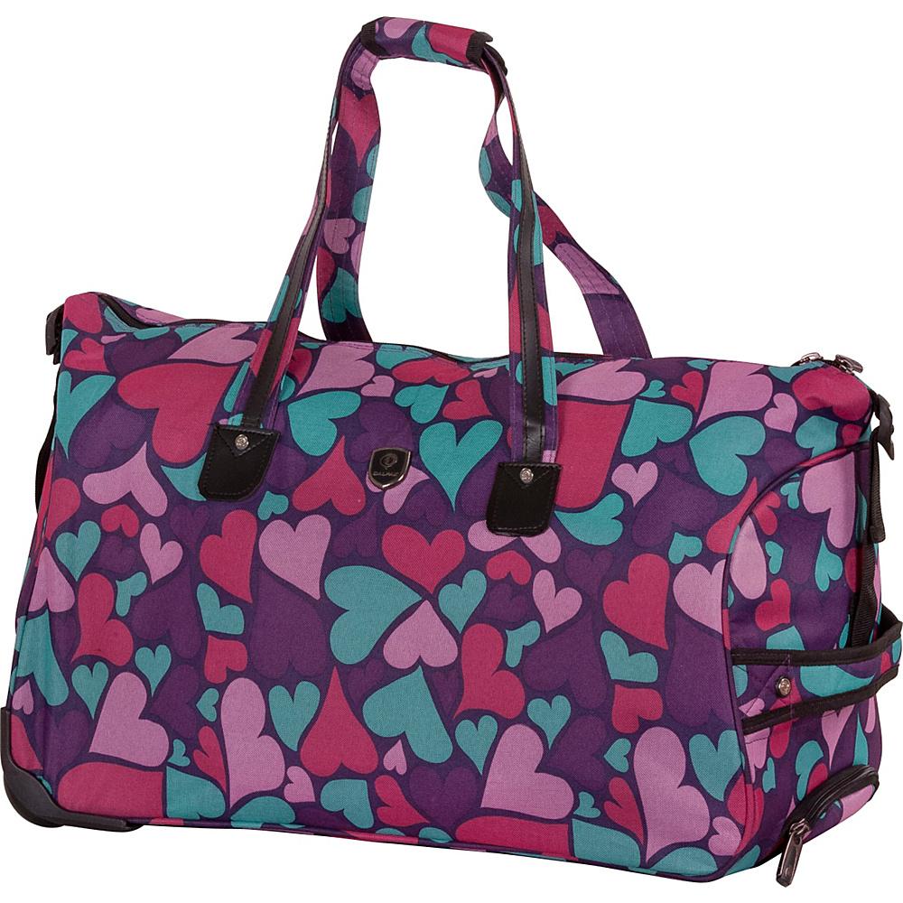 CalPak Madison Duffel Bag Purple Hearts - CalPak All Purpose Duffels