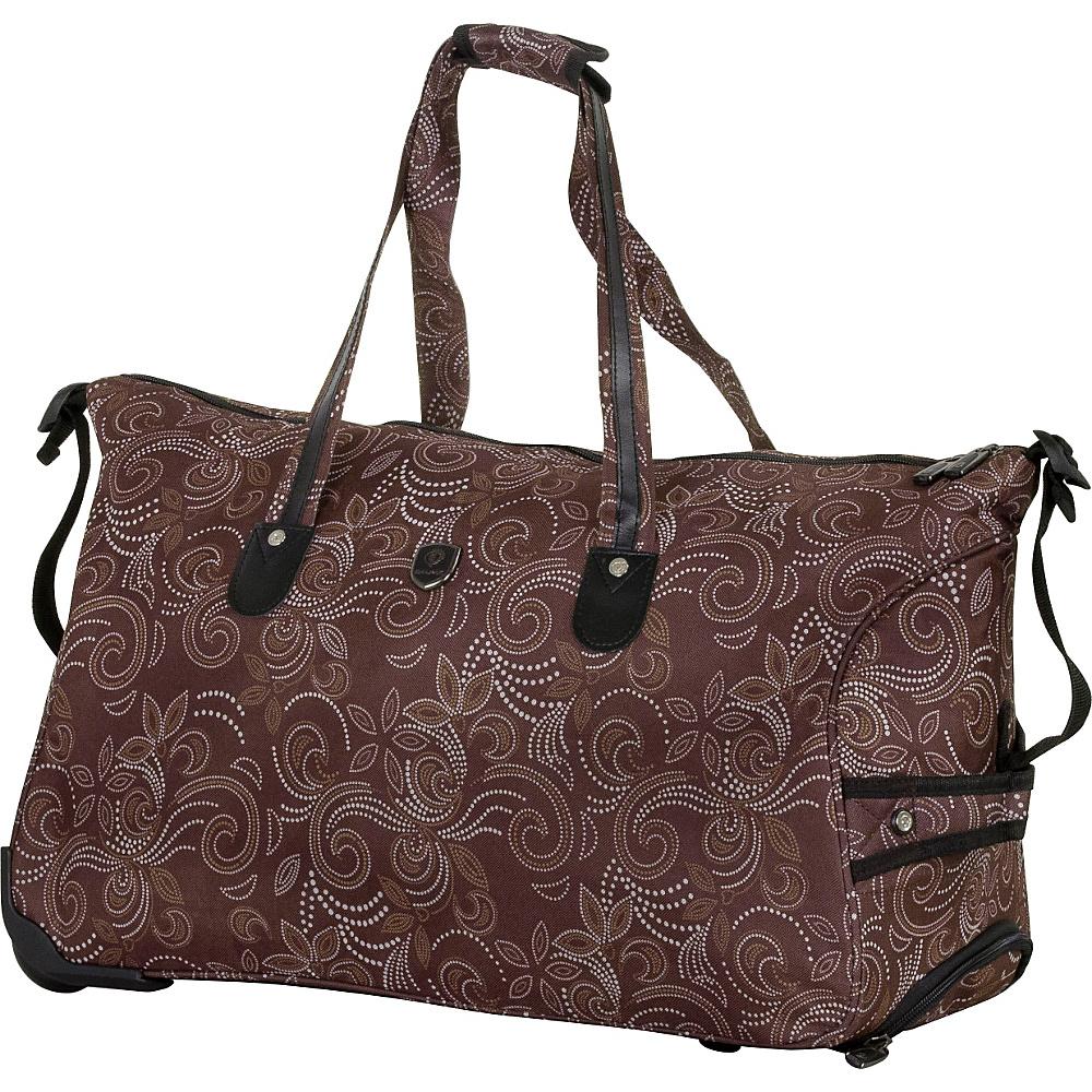 CalPak Madison Duffel Bag Brown Petals - CalPak All Purpose Duffels