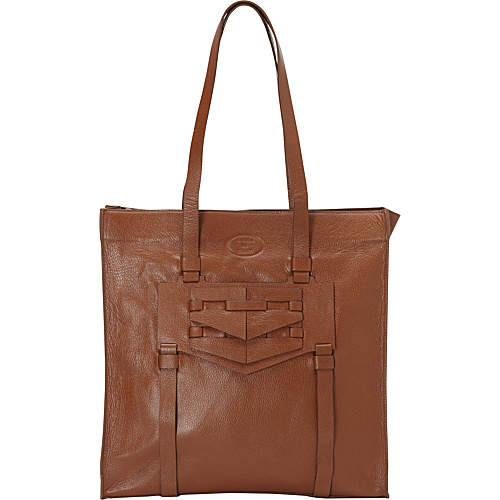 Sharo Leather Bags Women's Fashionable Tote Brown - Sharo Leather Bags Leather Handbags