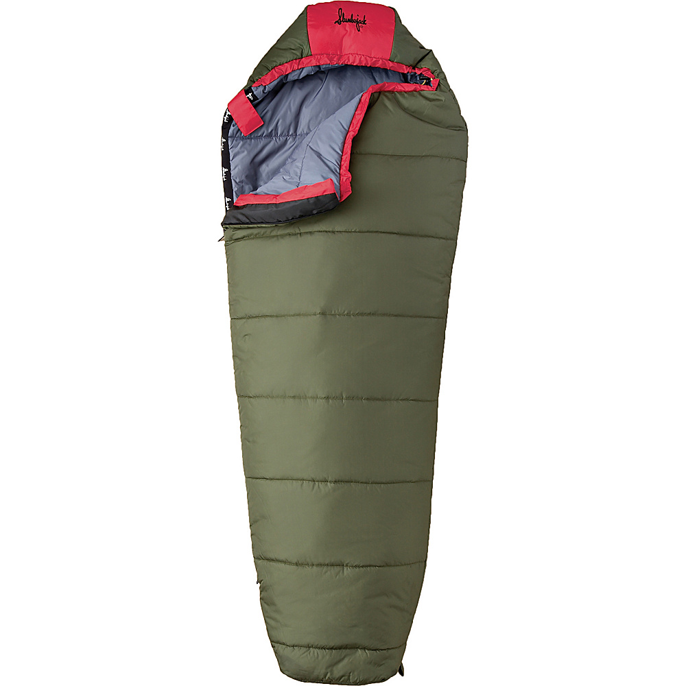 Slumberjack Big Scout 30 Degree Short Right Hand Sleeping Bag Evergreen Slumberjack Outdoor Accessories