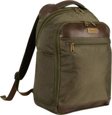 Tommy Bahama Tommy Bahama Surge 18 inch Backpack Olive/Brown - Tommy Bahama Business & Laptop Backpacks