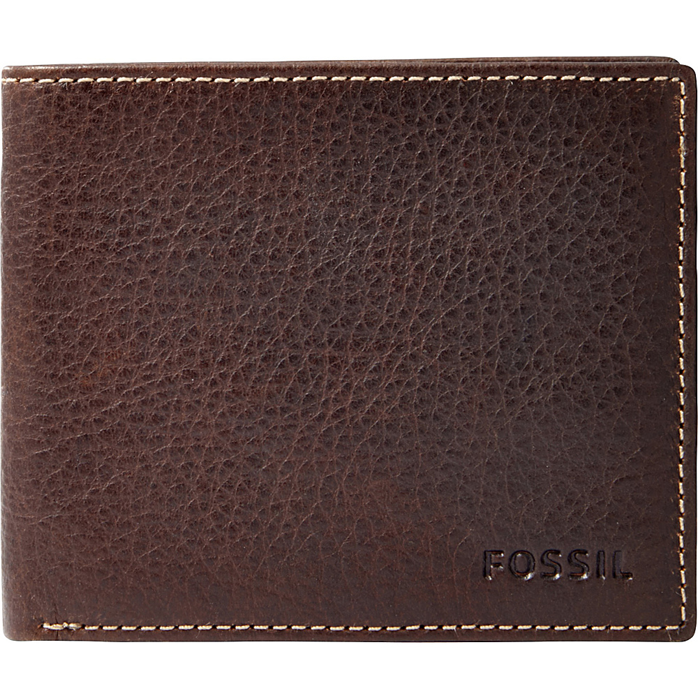 Fossil Lincoln Bifold Brown - Fossil Mens Wallets - Work Bags & Briefcases, Men's Wallets