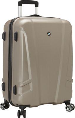 BMW Luggage 23.25 inch Split Case  8 Wheel Spinner Champagne - BMW Luggage Hardside Checked