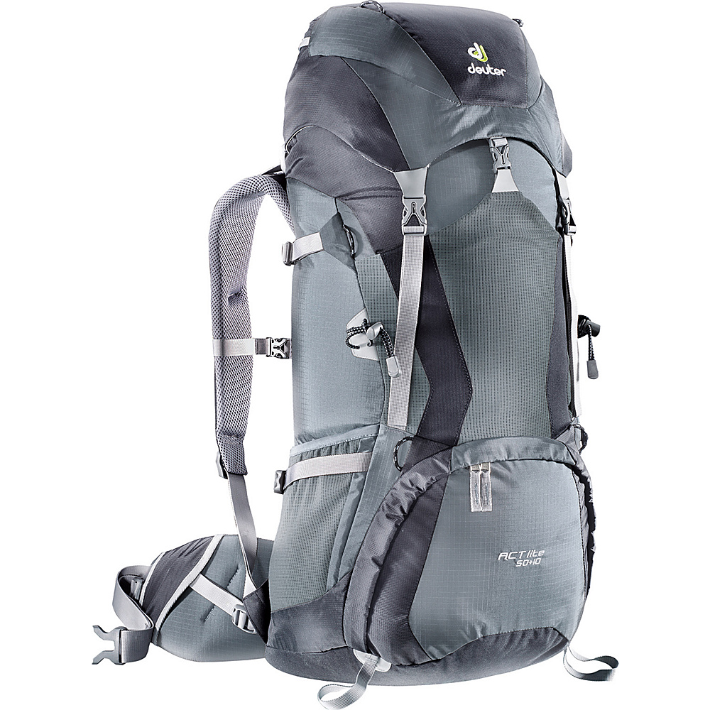 Deuter ACT Lite 40+10 Hiking Backpack Black/Granite - Deuter Backpacking Packs