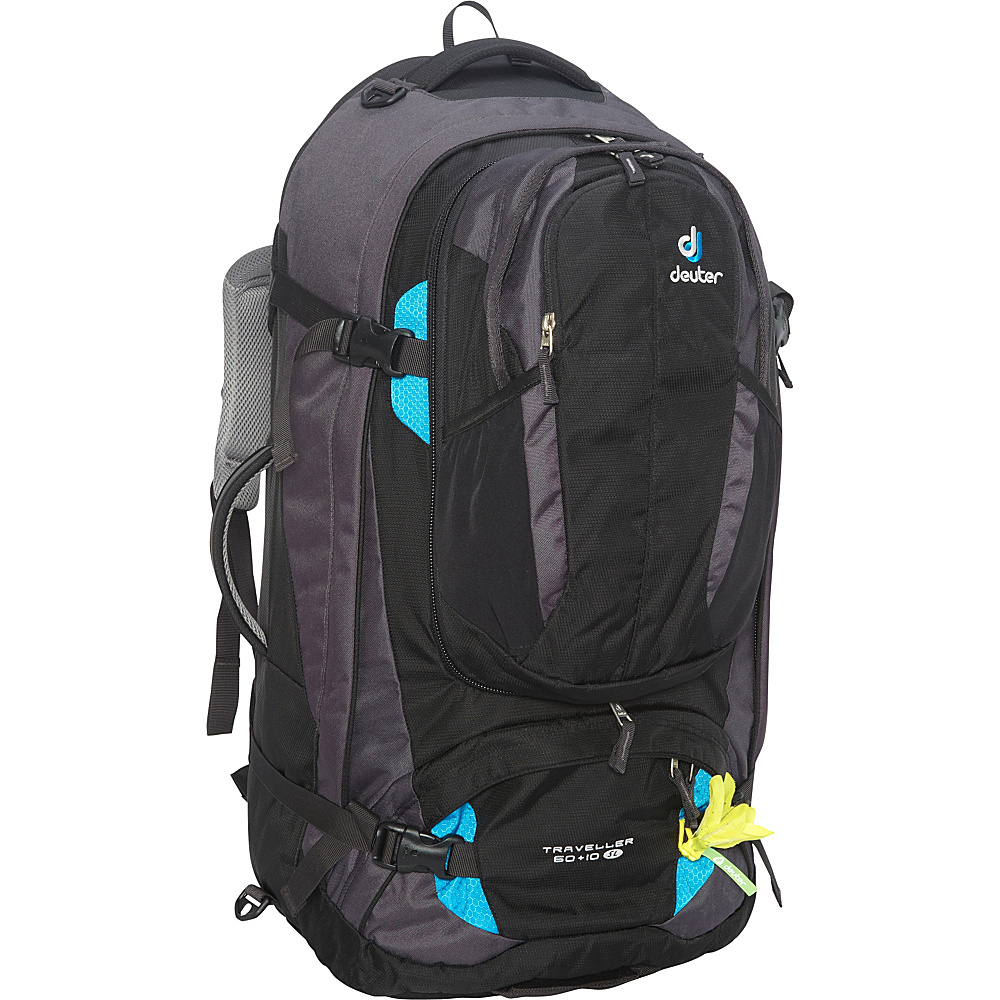 Deuter Traveller 60 10 SL Travel Backpack Black Turquoise Deuter Travel Backpacks