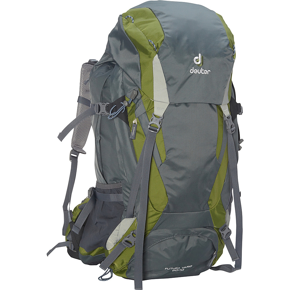 Deuter Futura Vario 60 10 Hiking Backpack granite pine silver Deuter Day Hiking Backpacks