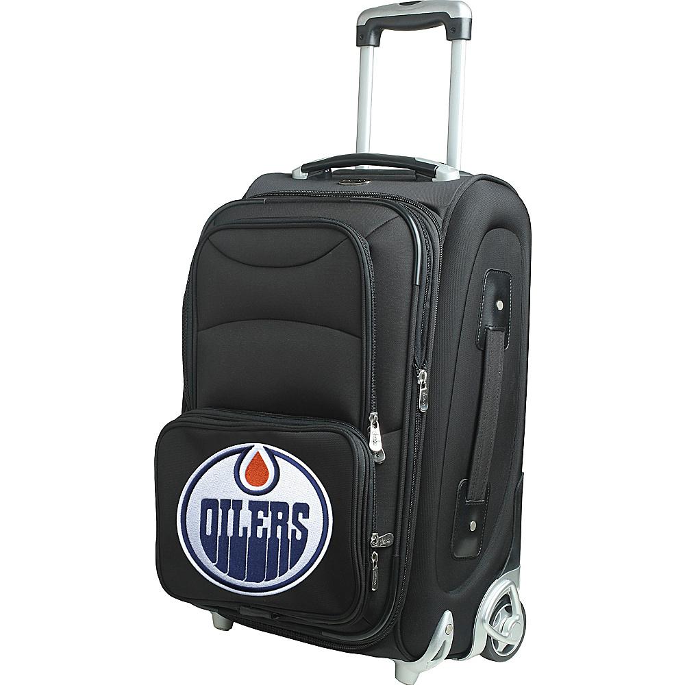 Denco Sports Luggage NHL 21 Wheeled Upright Edmonton Oilers - Denco Sports Luggage Softside Carry-On - Luggage, Softside Carry-On