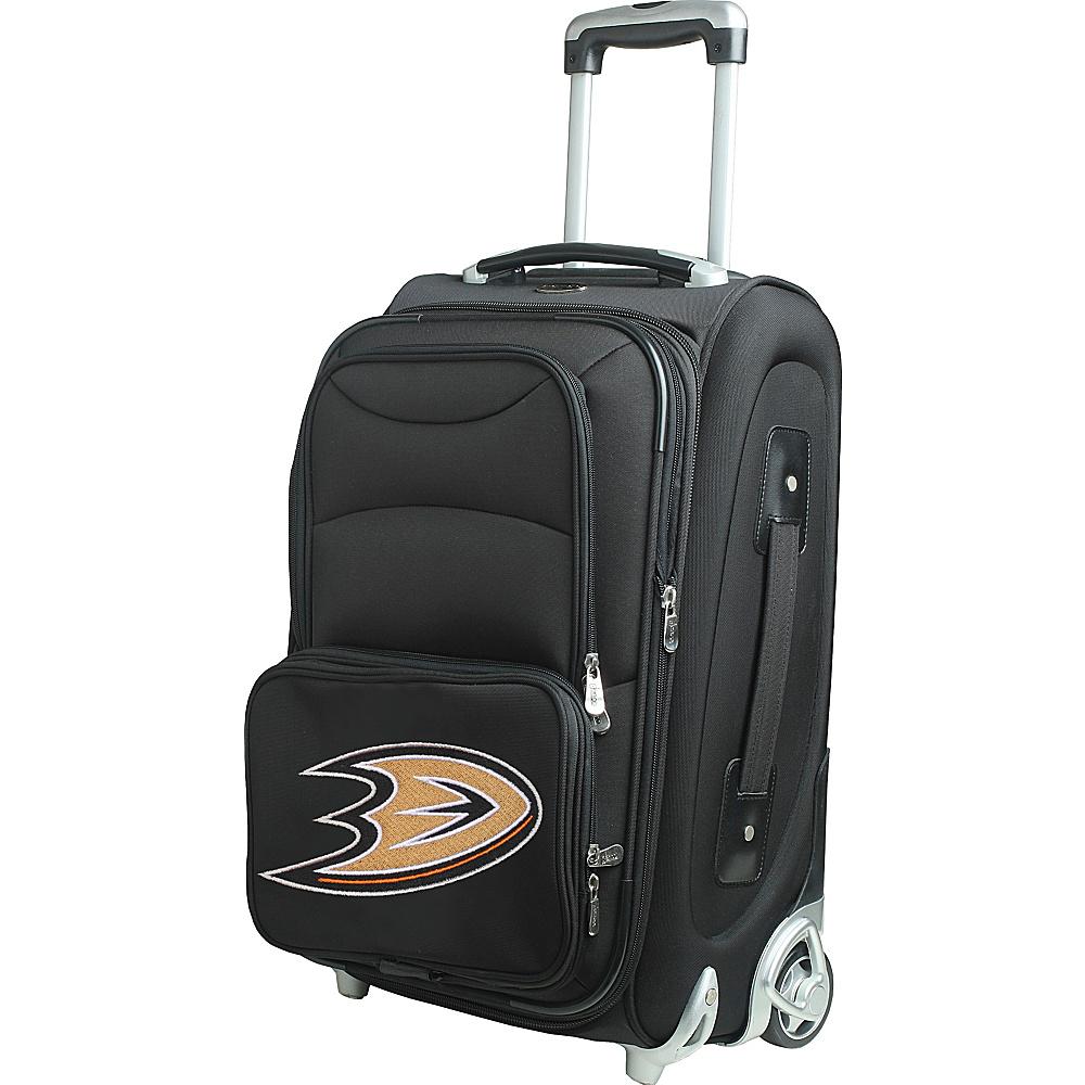 Denco Sports Luggage NHL 21 Wheeled Upright Anaheim Mighty Ducks - Denco Sports Luggage Softside Carry-On - Luggage, Softside Carry-On