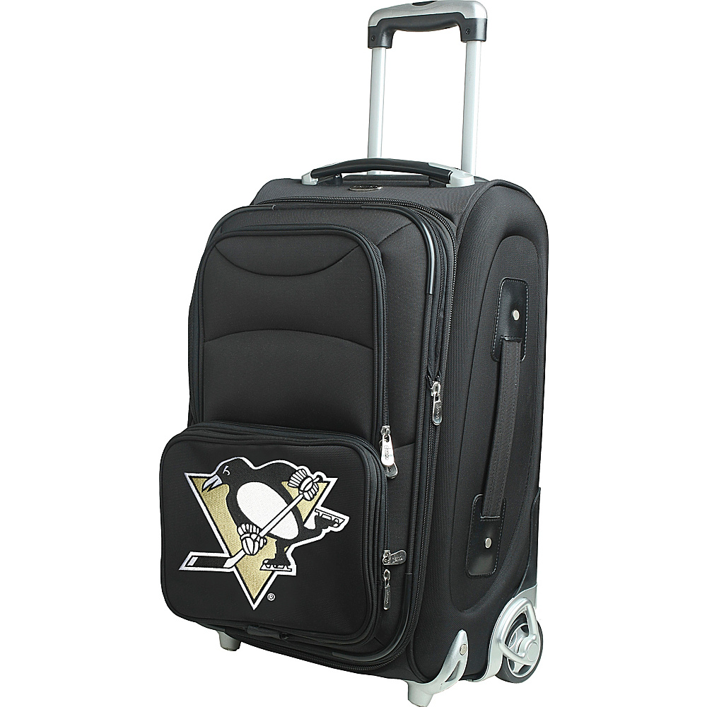 "Denco Sports Luggage NHL 21"" Wheeled Upright Pittsburgh Penguins - Denco Sports Luggage Softside Carry-On"