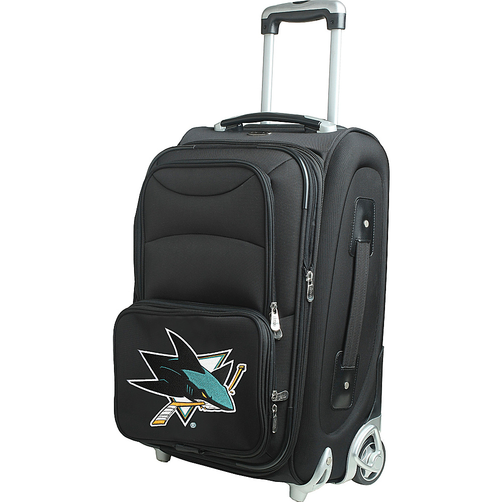 Denco Sports Luggage NHL 21 Wheeled Upright San Jose Sharks - Denco Sports Luggage Softside Carry-On - Luggage, Softside Carry-On