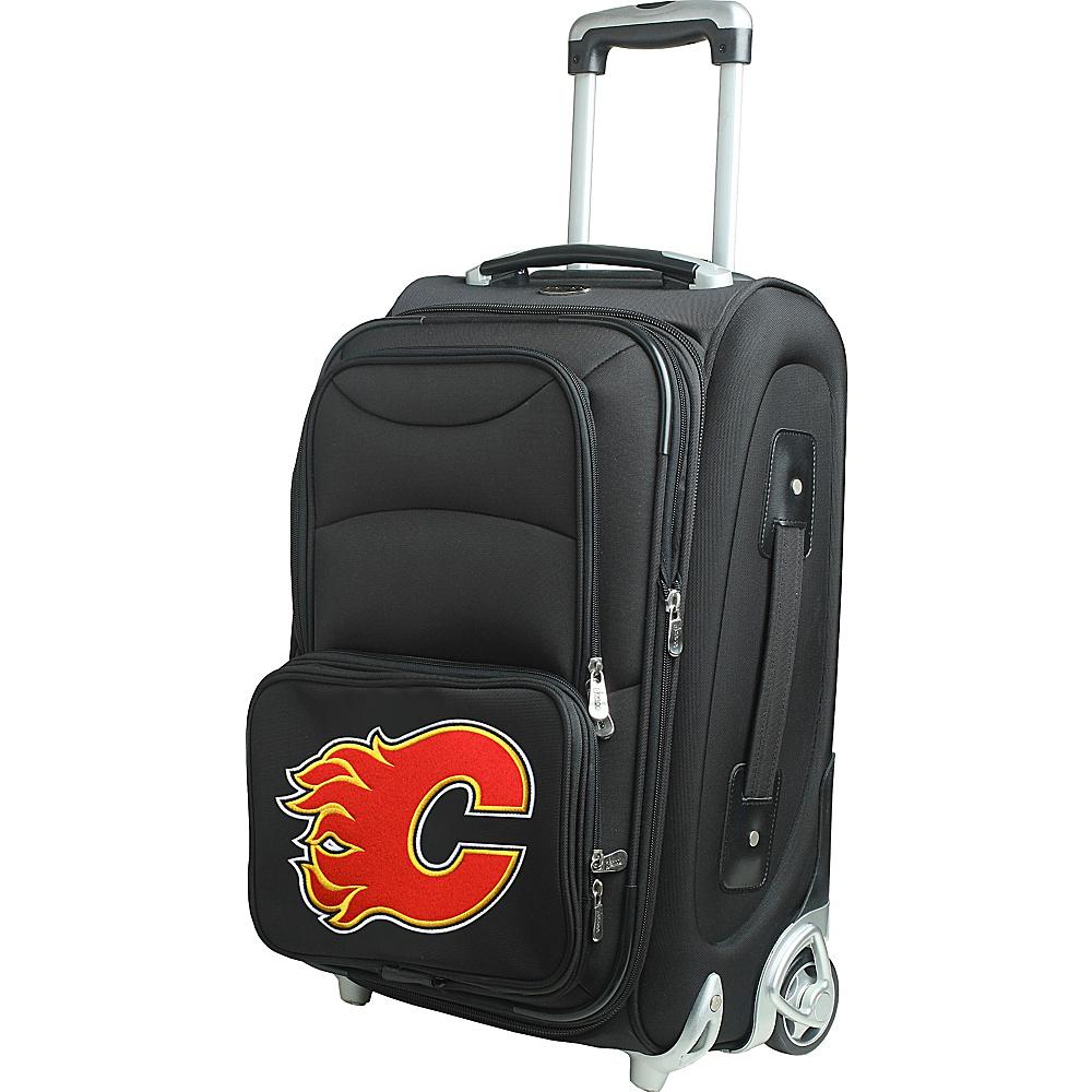 Denco Sports Luggage NHL 21 Wheeled Upright Calgary Flames - Denco Sports Luggage Softside Carry-On - Luggage, Softside Carry-On