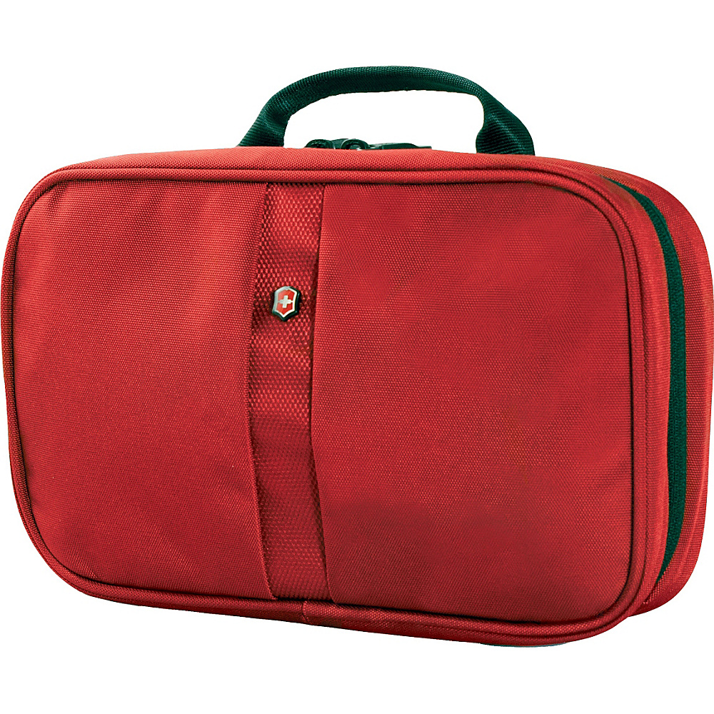 Victorinox Lifestyle Accessories 4.0 Zip Around Travel Kit Red Victorinox Toiletry Kits
