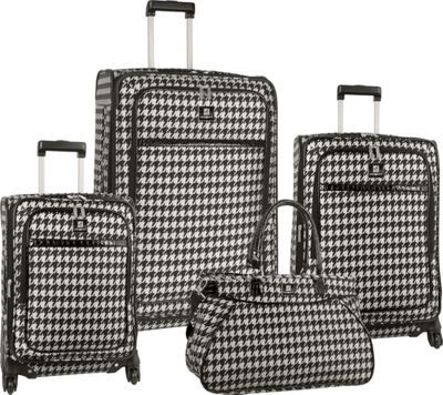 Image of Anne Klein Luggage Boston 4 Piece Set BLACK/WHITE - Anne Klein Luggage Luggage Sets