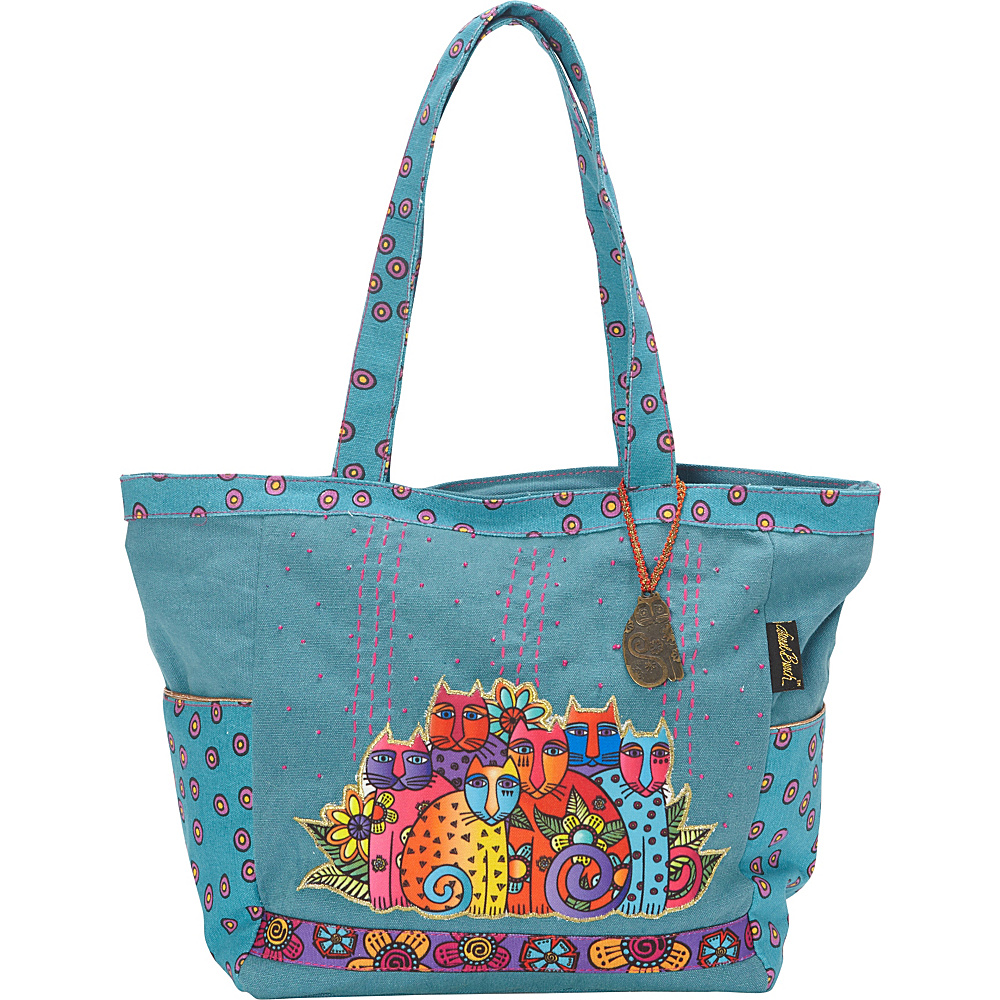 Laurel Burch Feline Clan Tote Multi Laurel Burch Fabric Handbags