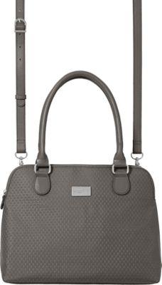 baggallini Natalie Satchel pewter - baggallini Fabric Handbags