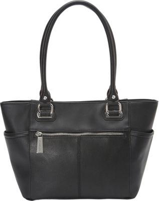 Tignanello Perfect Pockets E/W Shopper Black - Tignanello Leather Handbags