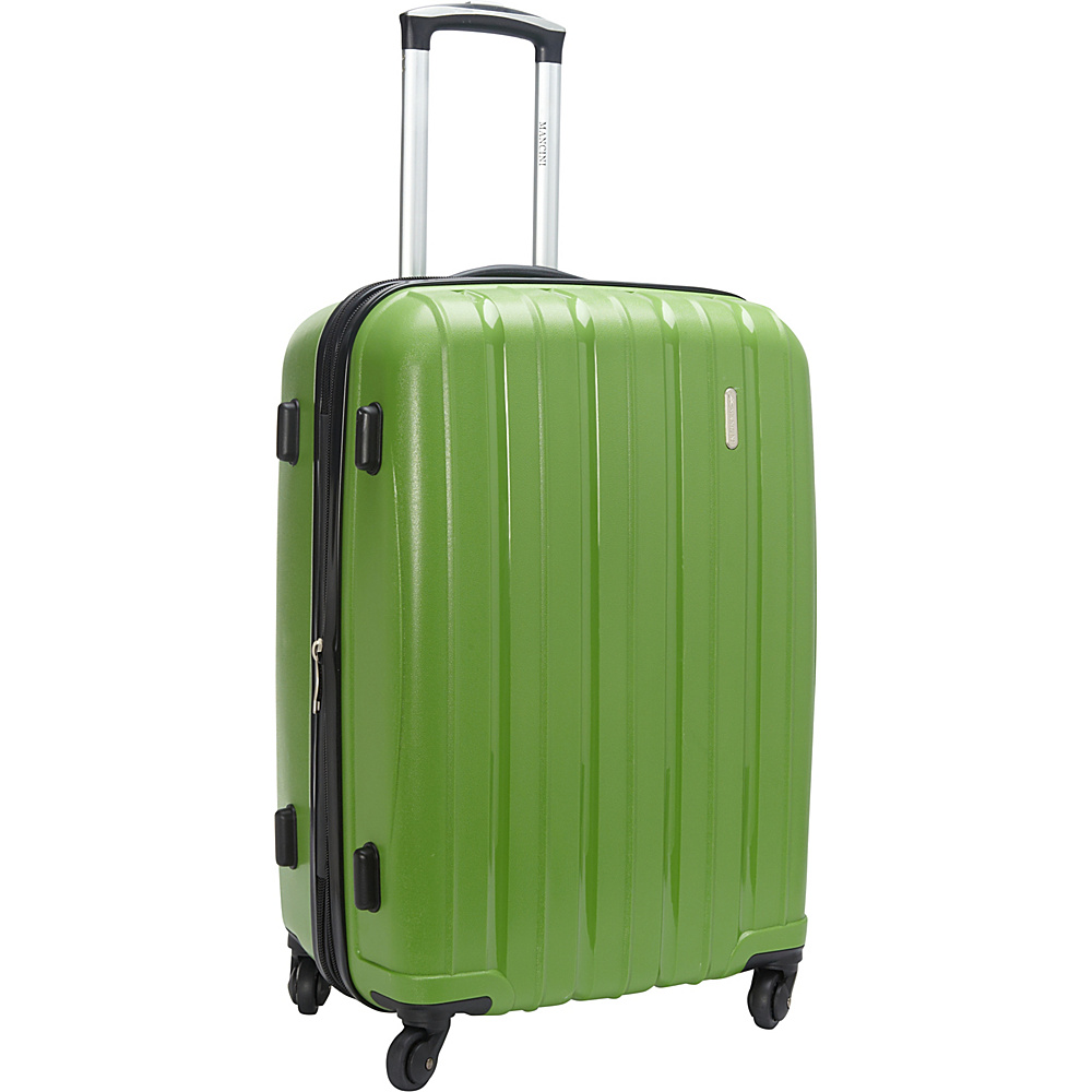 Mancini Leather Goods 24 Expandable Polypropylene Spinner Luggage Apple Green Mancini Leather Goods Hardside Checked