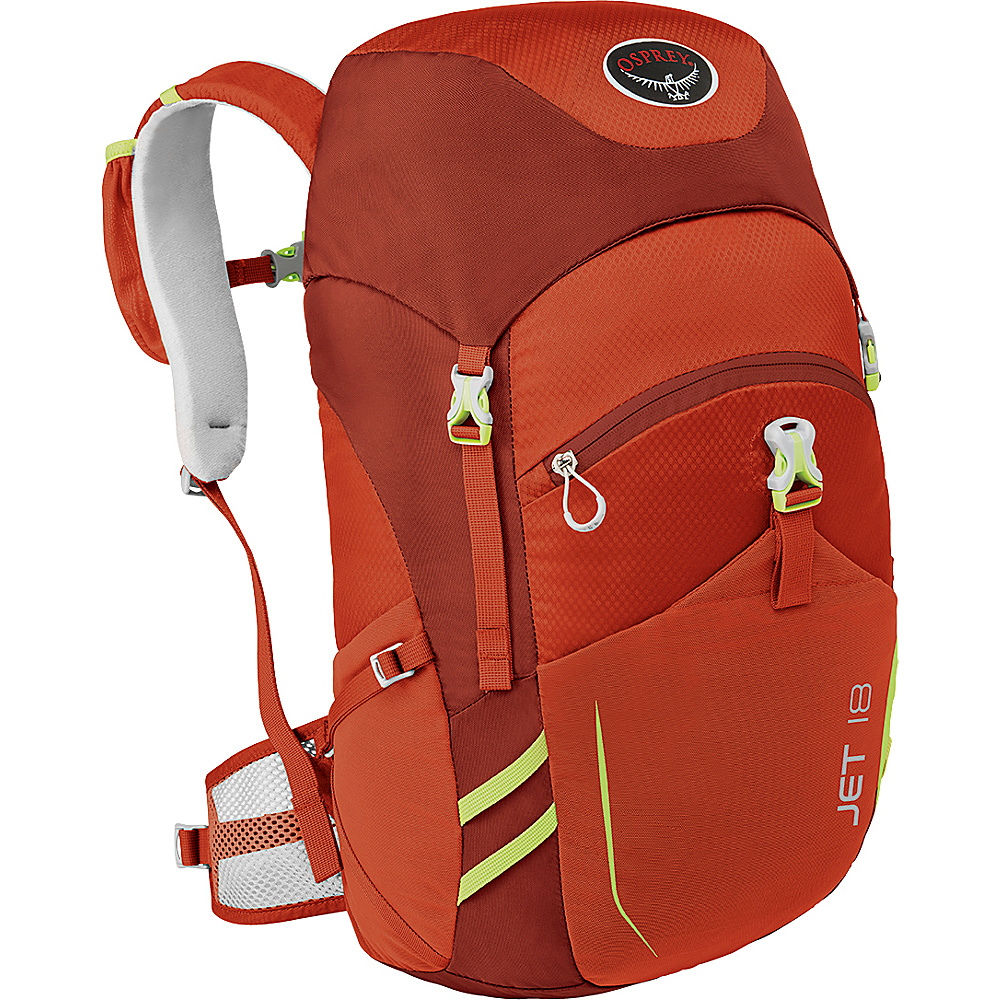 Osprey Jet 18  Kids Strawberry Red - Osprey Day Hiking Backpacks - Outdoor, Day Hiking Backpacks