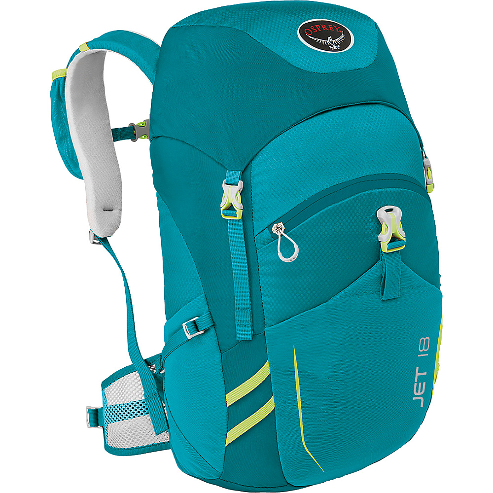 Osprey Jet 18  Kids Real Teal - Osprey Day Hiking Backpacks - Outdoor, Day Hiking Backpacks
