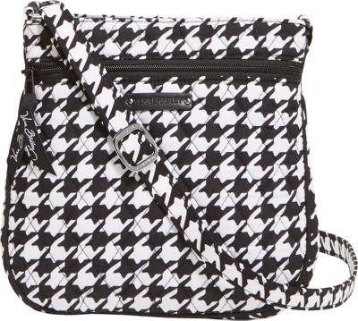 Vera Bradley Petite Double Zip Hipster Midnight Houndstooth - Vera Bradley Fabric Handbags