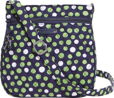Vera Bradley Petite Triple Zip Hipster Lucky Dots - Vera Bradley Fabric Handbags