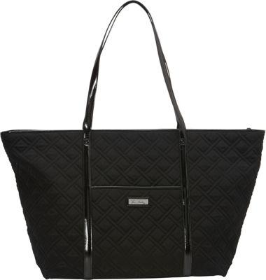 Vera Bradley Trimmed Vera Traveler - Solids Classic Black - Vera Bradley Fabric Handbags