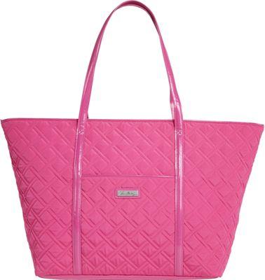 Vera Bradley Trimmed Vera Traveler - Solids Deep Pink - Vera Bradley Fabric Handbags