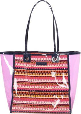 Vera Bradley Clearly Colorful Tote Rio Squiggle - Vera Bradley Manmade Handbags
