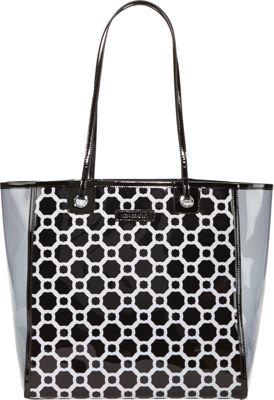 Vera Bradley Clearly Colorful Tote Midnight Geometric - Vera Bradley Manmade Handbags