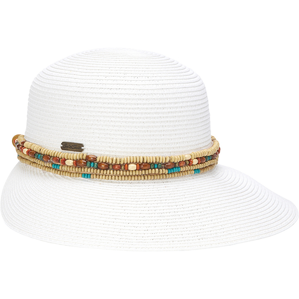 Sun N Sand Backless Sun Hat One Size - White - Sun N Sand Hats/Gloves/Scarves - Fashion Accessories, Hats/Gloves/Scarves