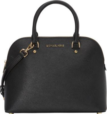 MICHAEL Michael Kors Cindy Large Dome Satchel Black - MICHAEL Michael Kors Designer Handbags