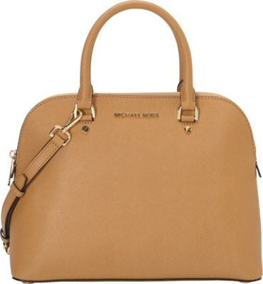 MICHAEL Michael Kors Cindy Large Dome Satchel Peanut - MICHAEL Michael Kors Designer Handbags
