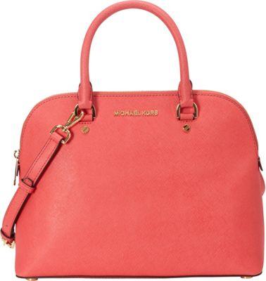 MICHAEL Michael Kors Cindy Large Dome Satchel Watermelon - MICHAEL Michael Kors Designer Handbags