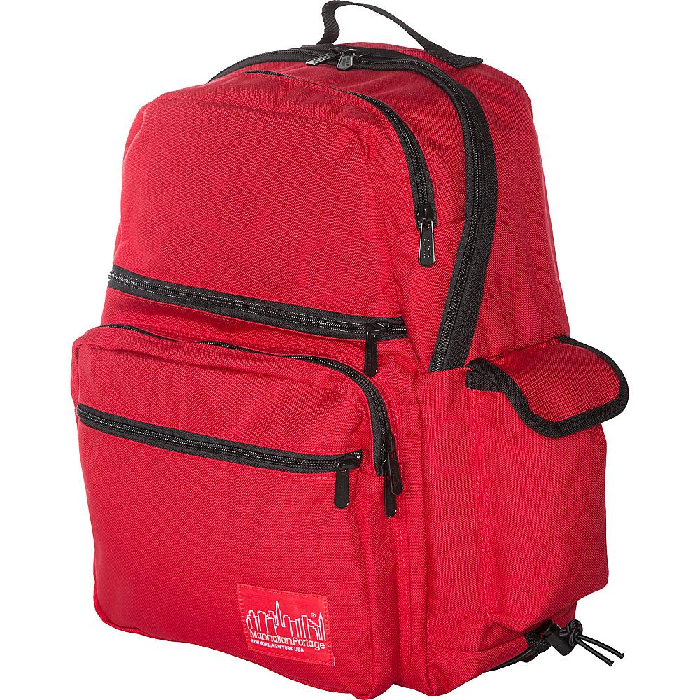 Manhattan Portage Kens Backpack Red - Manhattan Portage Everyday Backpacks - Backpacks, Everyday Backpacks
