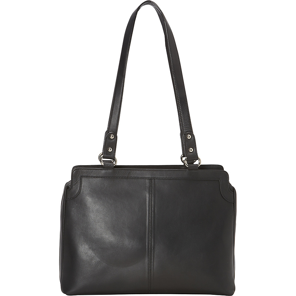 R R Collections East West Tote Black R R Collections Leather Handbags