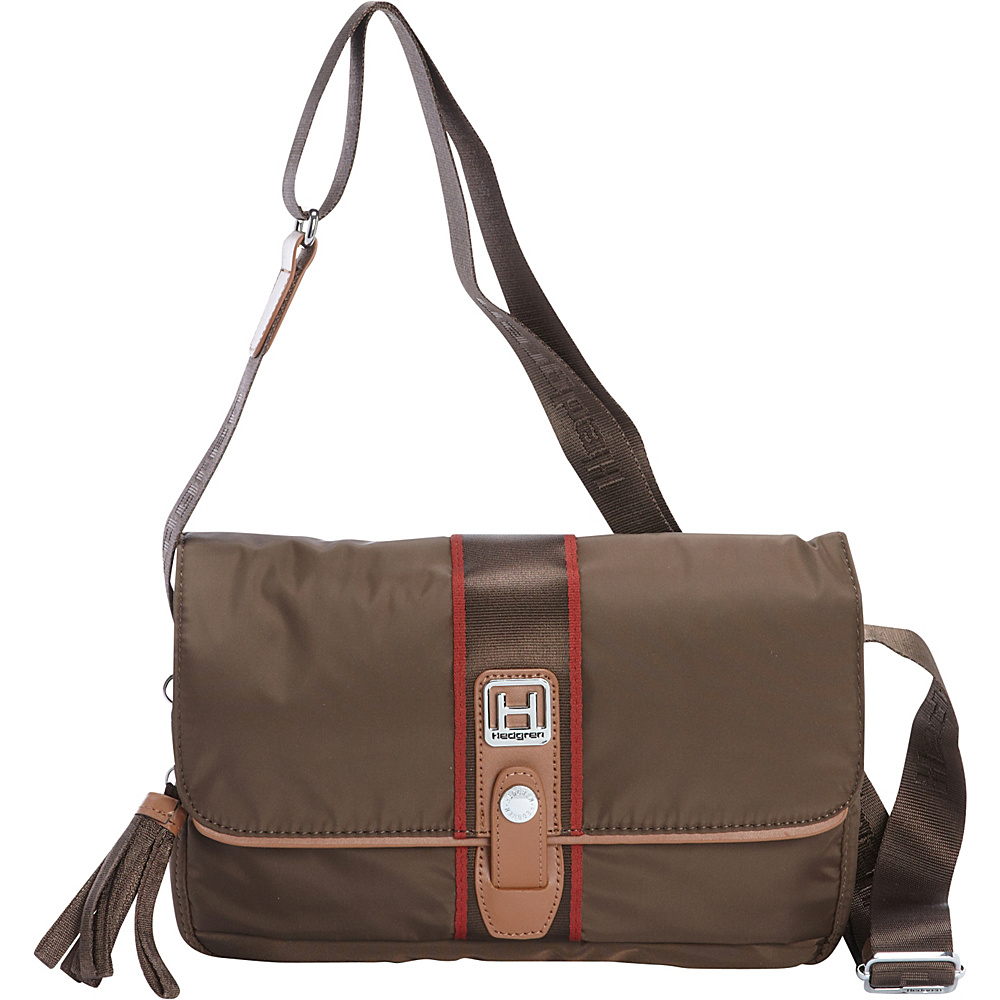 Hedgren Madge Crossbody Seal Brown Hedgren Fabric Handbags