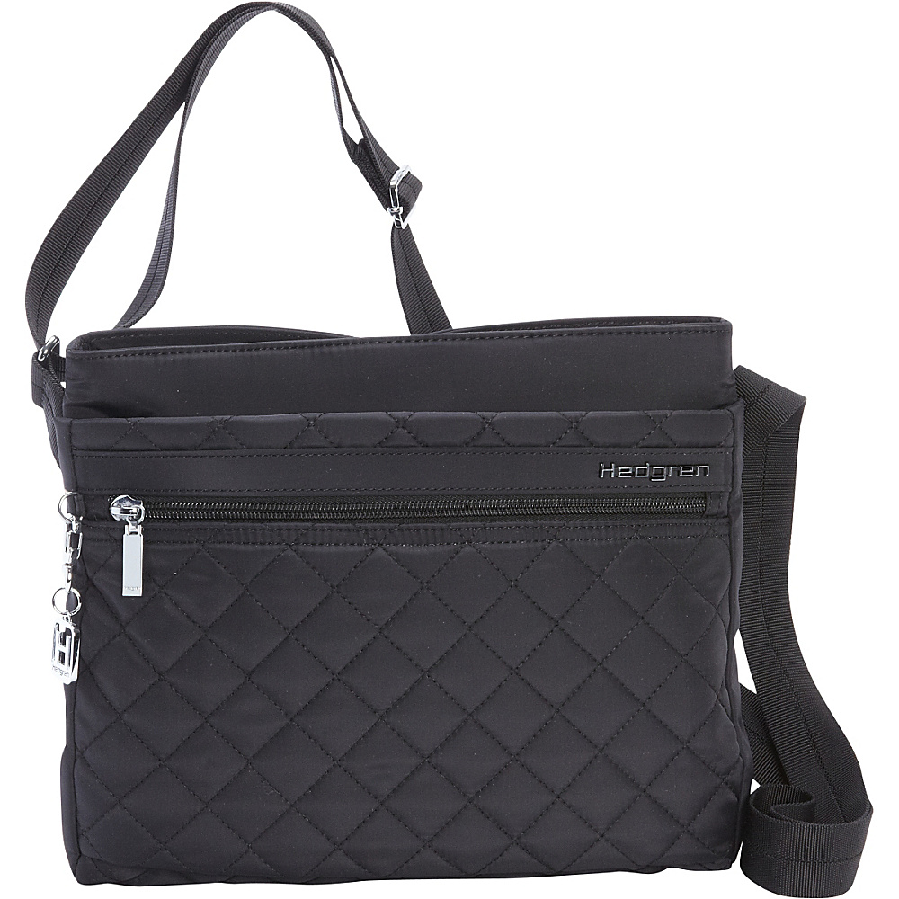 Hedgren Viola Crossbody Black Hedgren Fabric Handbags