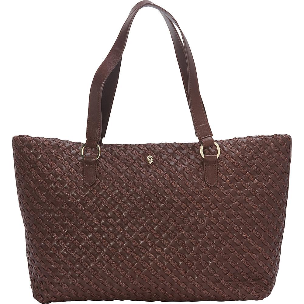 Helen Kaminski Fayann Medium Tote Gazelle/Cocoa - Helen Kaminski Designer Handbags