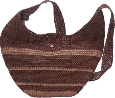 Helen Kaminski Kea Stripe Crossbody Cocoa/Sepia - Helen Kaminski Designer Handbags