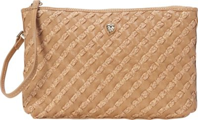 Helen Kaminski Weave Pouchette Large Almond/Nougat - Helen Kaminski Leather Handbags