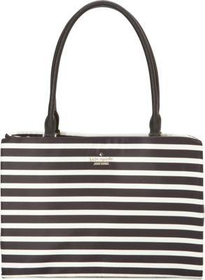 kate spade new york Classic Nylon Small Phoebe Black/Clotted Cream - kate spade new york Designer Handbags