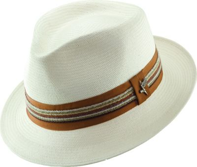 Carlos Santana Hats Salvador Pinch Front Fedora NATURAL- MEDIUM - Carlos Santana Hats Hats