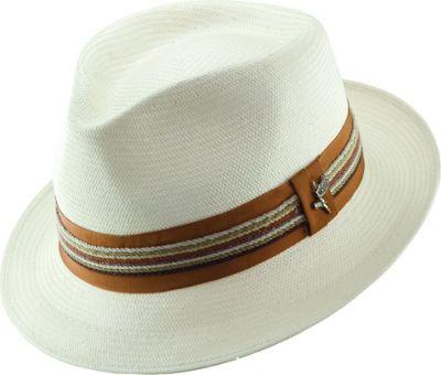 Carlos Santana Hats Salvador Pinch Front Fedora L - Natural-Large - Carlos Santana Hats Hats/Gloves/Scarves