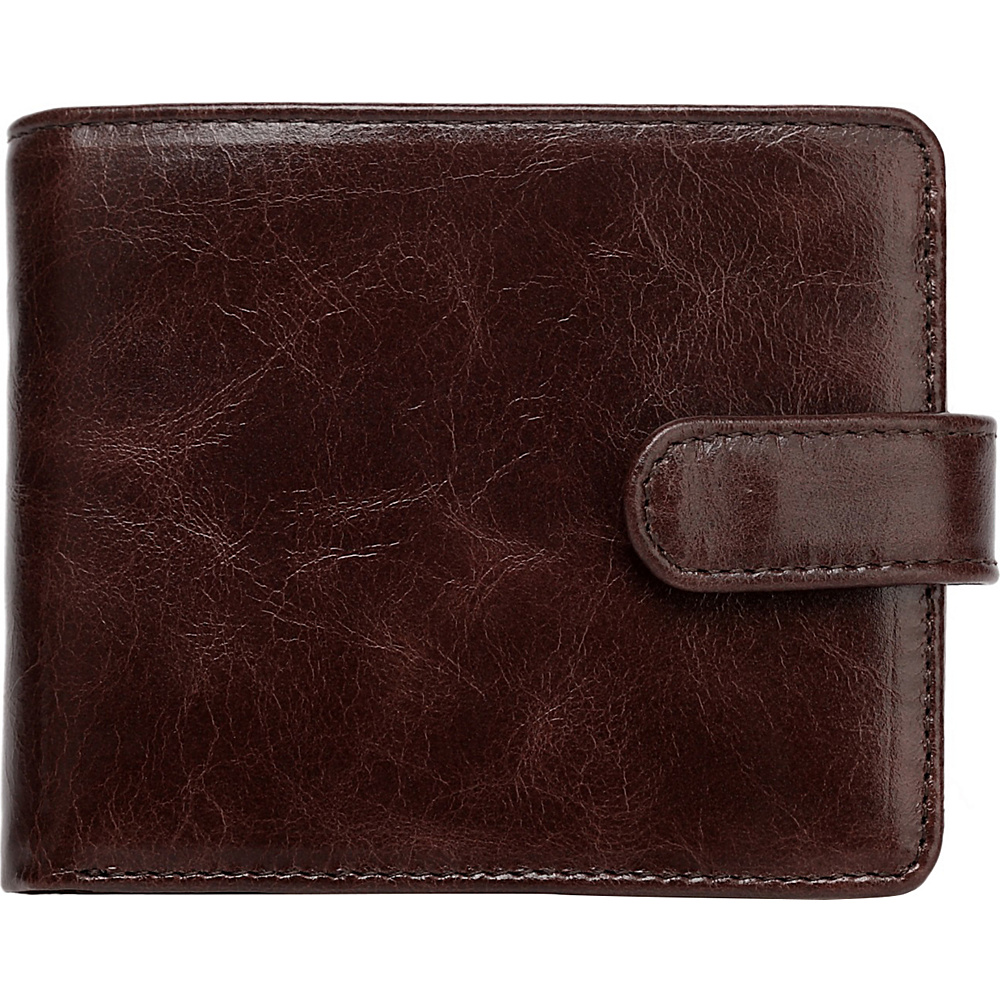 Vicenzo Leather Pelotas Classic Distressed Leather Trifold Men s Wallet Brown Vicenzo Leather Men s Wallets