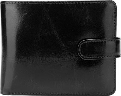 Vicenzo Leather Pelotas Classic Distressed Leather Trifold Men's Wallet Black - Vicenzo Leather Men's Wallets