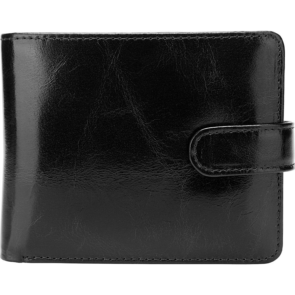 Vicenzo Leather Pelotas Classic Distressed Leather Trifold Men s Wallet Black Vicenzo Leather Men s Wallets
